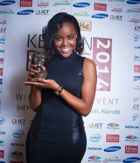 Sharon Mundia, winner - Best Fashion blog 2014 BAKE Kenyan Blog Awards