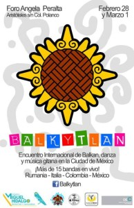 Balkan Gypsy folkloricdance and musicevent, poster