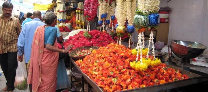 Colorful Devaraja Market in Mysore Karnataka India