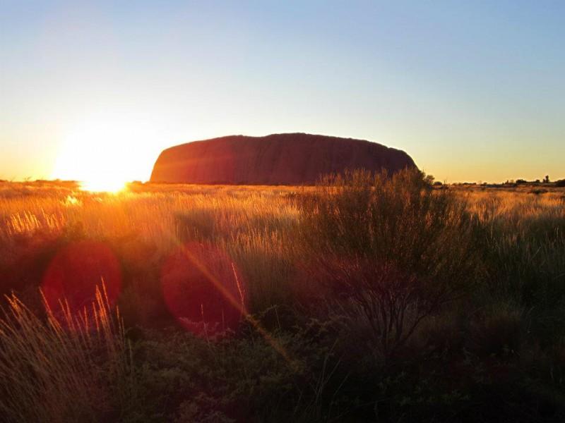 Mount Uluru at Sun Set