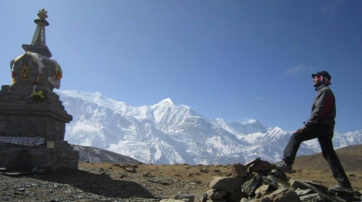 Man at Annapurna Base Camp Trek