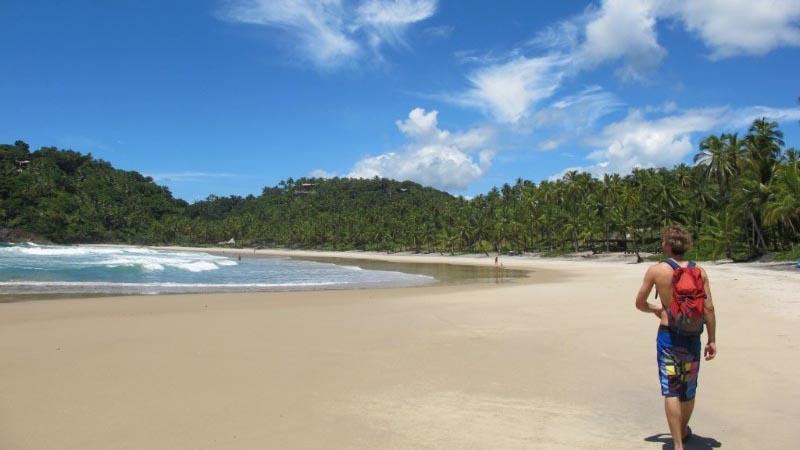Stroll along the white sand of Salvador da Bahia- Brazil
