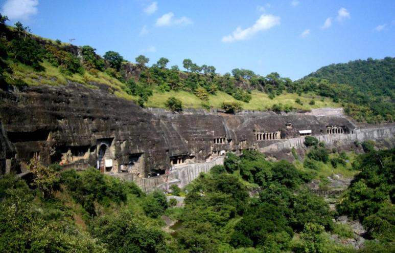 The Ajat Caves in India- Ancient ruins in Asia