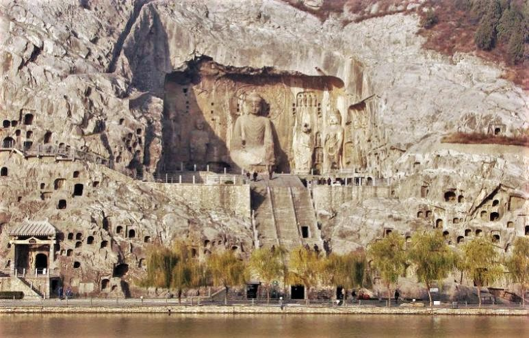 The Longmen Grottoes famous ancient ruins in Asia