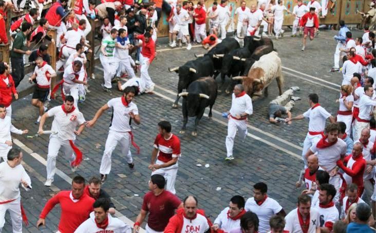 Spanish Fiestas - Running with the Bulls in Pamplona