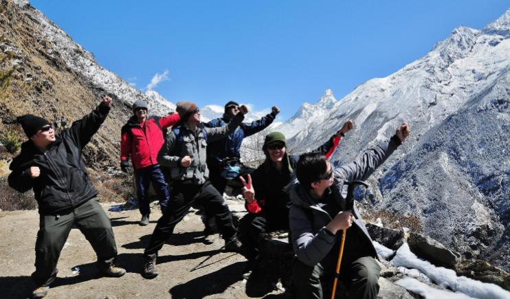 A Group of Friends on Route to Everest!- Climb Mount Everest