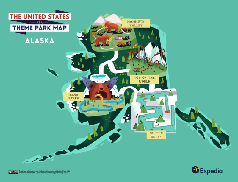 Theme Park Map- Alaska USA