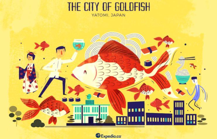 The City Of Goldfish- City Nicknames