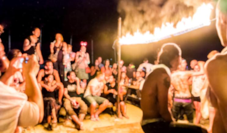Full Moon Party in full swing on Koh Phangan- Thailand