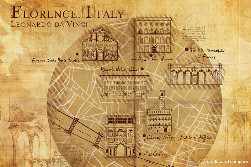 Leonardo da Vinci- Famous artists draw their hometown maps