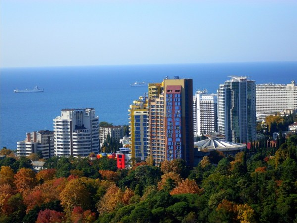 View of Sochi, Russia from above