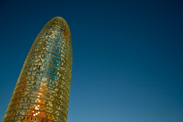 Torre Agbar, in Barcelona Spain