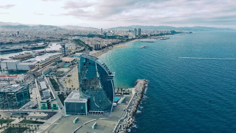 The Barceloneta from above in Barcelona