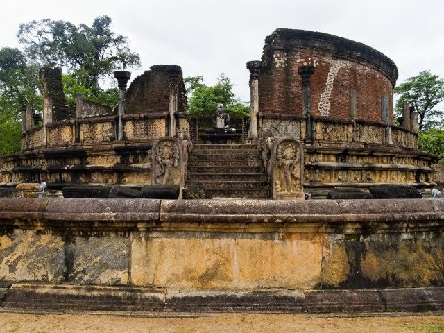 Ruins in the ancient city of Polonnaruwa