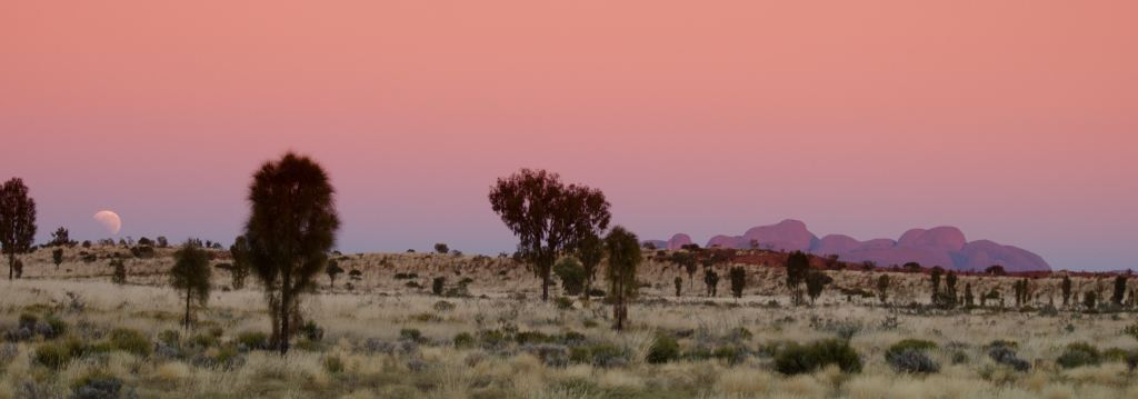 Mount Olga at sunset in the Northern Territory, outback Australia