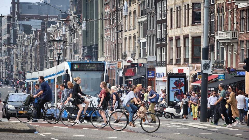 Amsterdam busy street