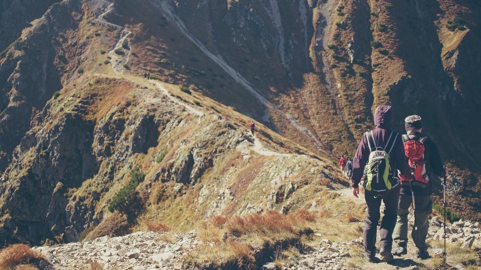 trekkers on adventure trip