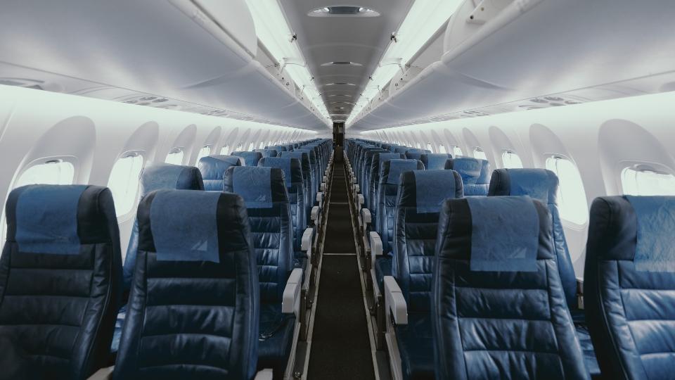 Coronavirus empty airplane seats