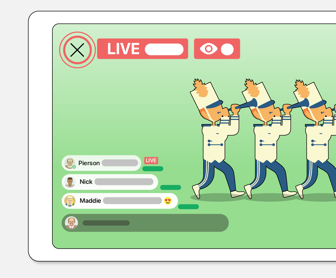 band app live streaming