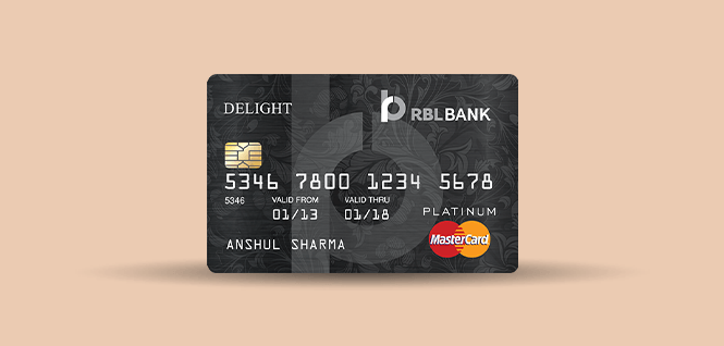 RBL platinum delight card