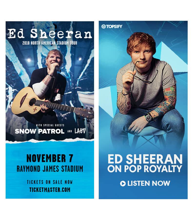 biểu ngữ ed sheeran cho buổi hòa nhạc