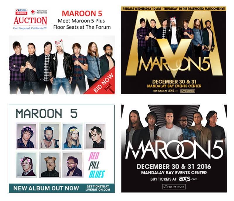 maroon 5 banner cho buổi hòa nhạc