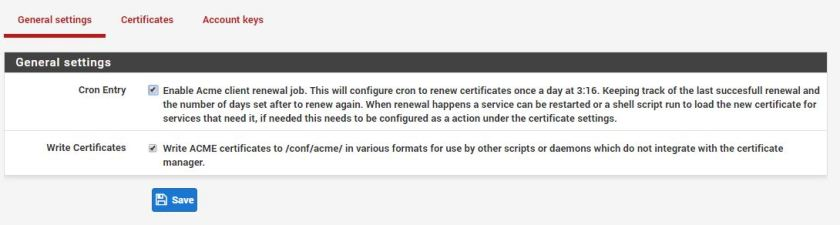 LetsEncrypt SSL Certificate with pfSense on Internal Linux