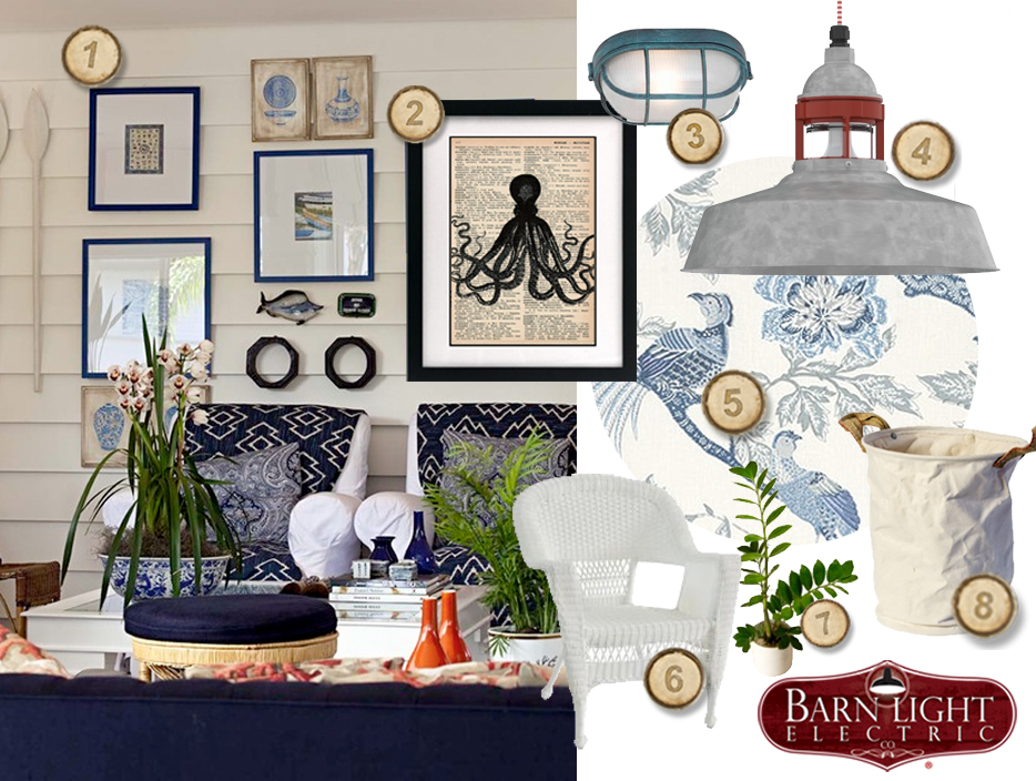 Nautical Inspired Coastal Cottage Living Room   Blog     Beach Home Marine Decor