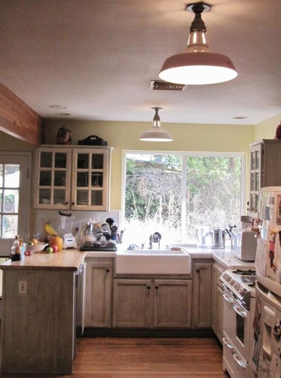 Vintage Benjamin Warehouse Shades For Farmhouse Kitchen Blog