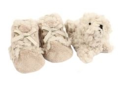 Ruby & Ed Lace Up Baby Booties with Seal Pup Toy