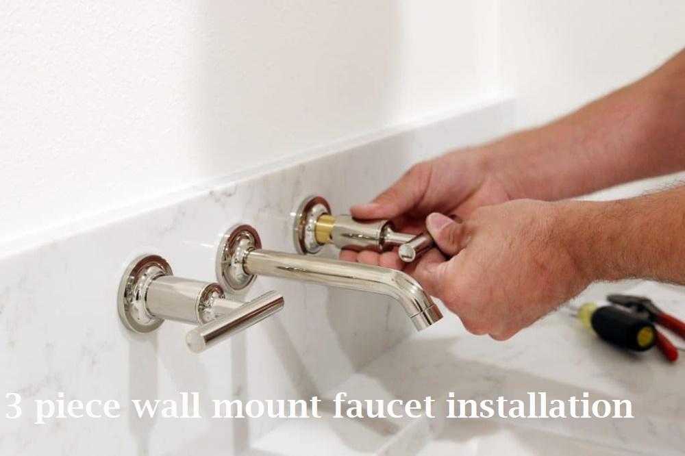 wall mount 3 piece chrome faucet
