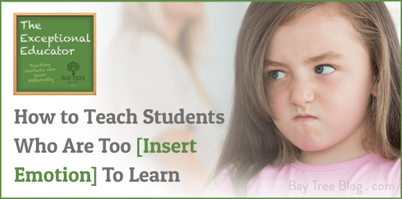 How To Teach Students Who Are Too [Insert Emotion] to Learn (BayTreeBlog.com)