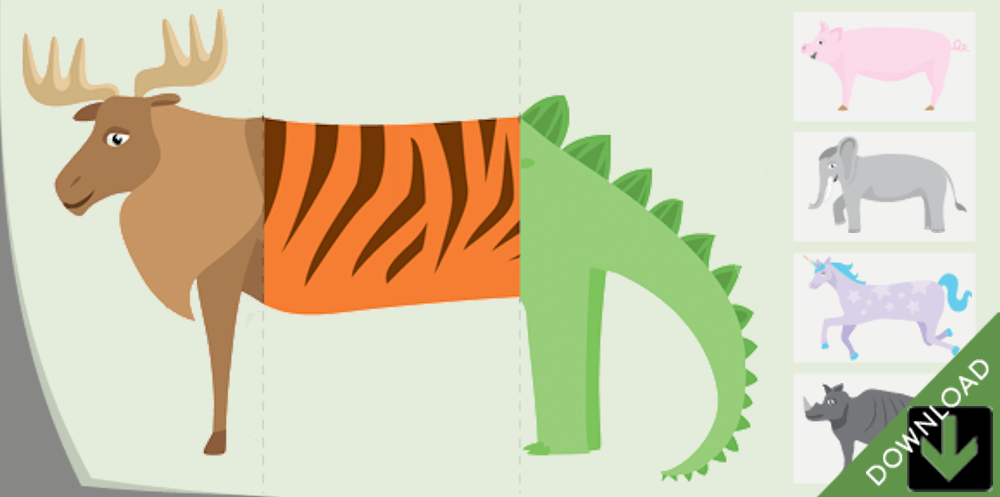 The Mix-And-Match Blending Board Book of Animals (BayTreeBlog.com)