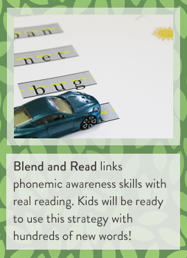 Blend and Read links phonemic awareness skills with real reading. Kids will be ready to use this strategy with hundreds of new words! (BayTreeBlog.com)