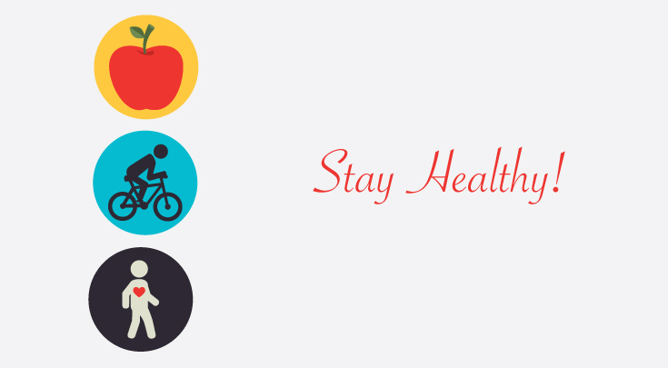stay healthy eat right exercise