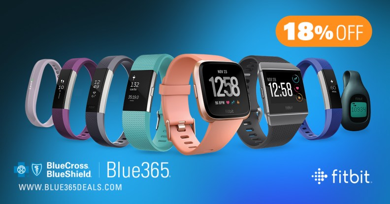 18 percent discount on Fitbit devices and a 29 percent discount on accessories, plus free shipping