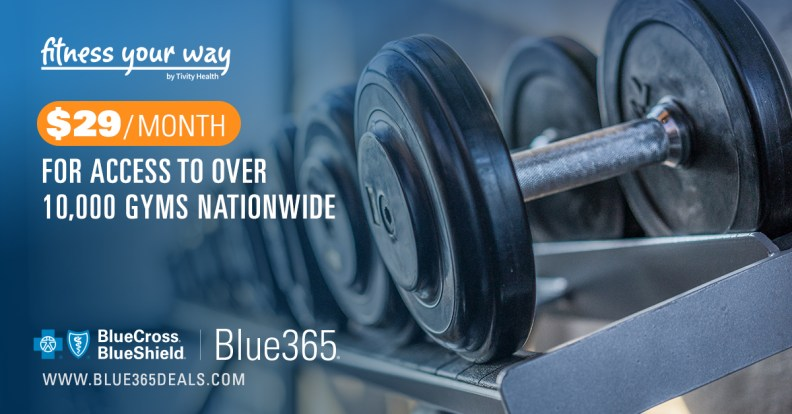 $29 monthly fee for access to a network of more than 10,000 gyms nationwide