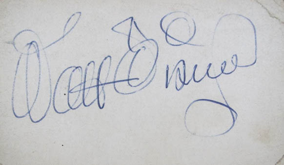 Walt Disney Ball Point Signature 1962