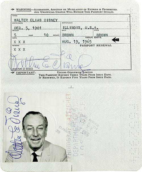 Walt-Disney-passport