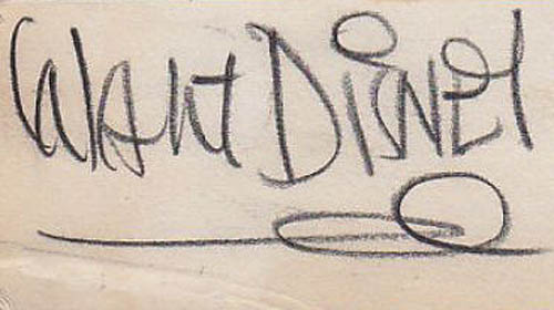 Authentic Walt Disney signature 1933
