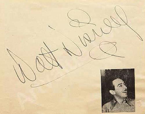 Authentic Walt Disney signature 1938