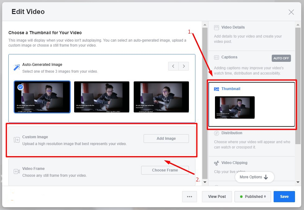 How to Change Facebook Video Thumbnails Image