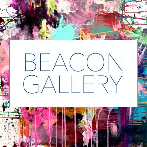 Beacon Gallery Rectangular Logo with Paint Behind it