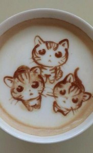 cat latte art