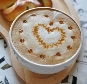 heart latte art