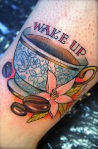 antique coffee tattoo