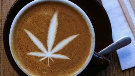 Marijuana Leaf Latte Art – CBD Coffee