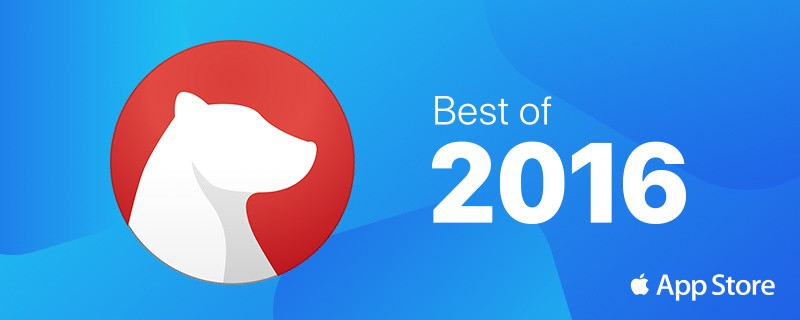 Bear is App Of The Year 2016