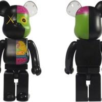 KAWS OF COMPANION(人体模型) ブラック 100% & 400% & 1000% ベアブリック(BE@RBRICK)[発売]