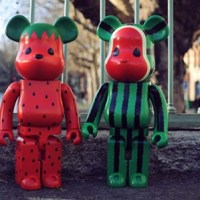 Levi's CLOT Watermelon & Strawberry 1000% ベアブリック(BE@RBRICK)[先行発売]